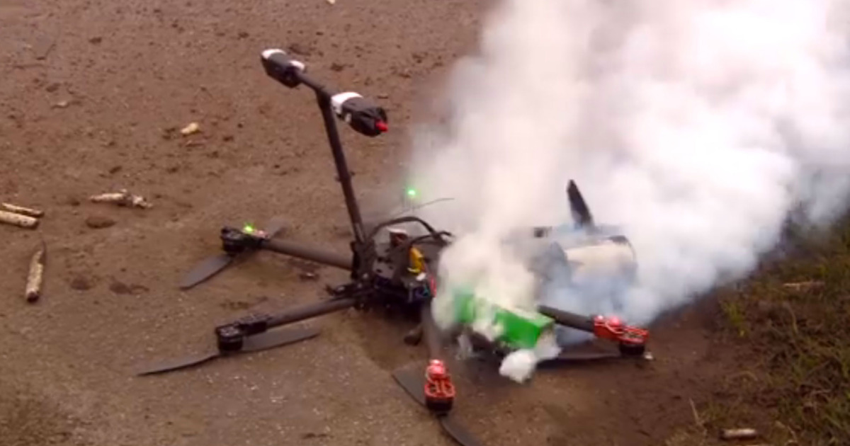 drone Crash lipo fire